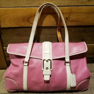VTG Coach Hampton Satchel Leather Shoulder Bag